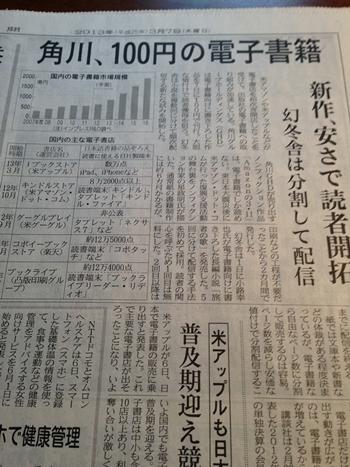 角川、100円の電子書籍