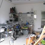 ガレージハウス内
